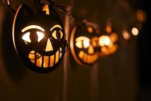 luzes do dia das bruxas foto