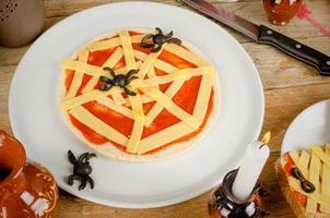 pizza do dia das bruxas foto