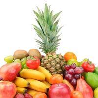 coleção de frutas com abacaxi
