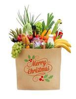 feliz natal sacola de compras foto