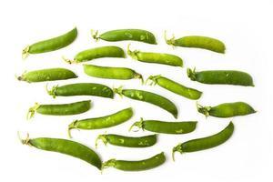 ervilhas verdes frescas foto