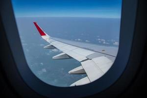 avião asa foto