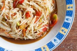 salada picante de mamão