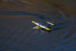 modelo de avião do mar. foto