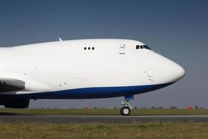 detalhe do nariz do avião de carga