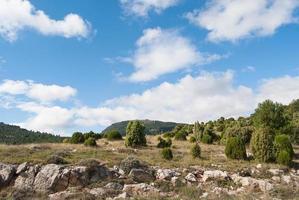 paisagem montanhosa do mediterrâneo