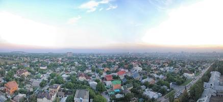 paisagem urbana nublada foto