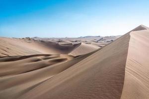 paisagem do deserto de dunas de areia