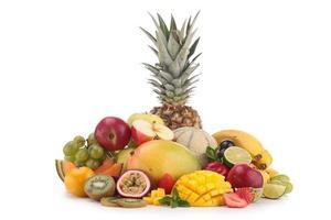 frutas isoladas foto