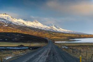 paisagem da Islândia de inverno