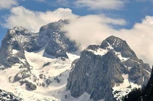 paisagem de montanha na Áustria.
