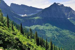 paisagem do parque nacional de geleira bonita foto