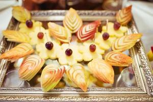buffet de frutas frescas foto