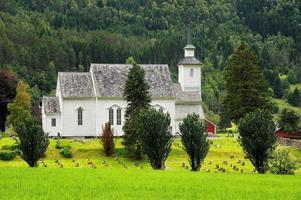 bela paisagem da noruega, escandinávia foto