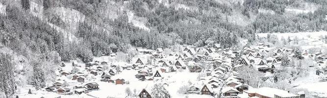 inverno shirakawago foto