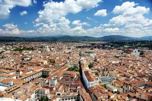 panorama da paisagem de Florença, Toscana, Itália foto