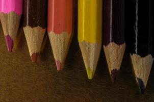 novos lápis de cor texturizados foto