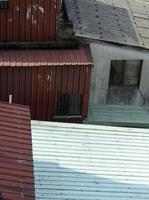 parede de ferro ondulado foto