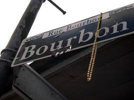 placa de rua de bourbon