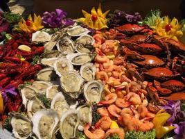 exibição de frutos do mar