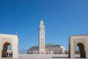 Mesquita hassan ii em casablanca foto