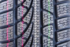 roda de automóvel para o inverno foto