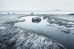 praia de inverno foto