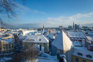 Tallinn no inverno foto