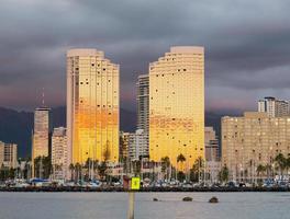 panorama de waikiki honolulu Havaí foto