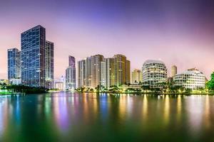 paisagem urbana de miami florida foto