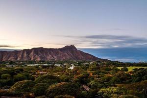 cratera de cabeça de diamante em oahua, Havaí