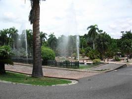 chorros de agua jardin botanico, santo domingo foto