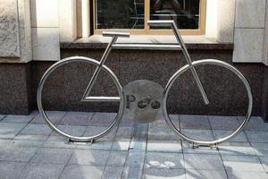 sinal de estacionamento de bicicletas foto