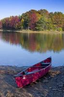 canoa queda do lago