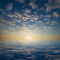 lago e céu foto