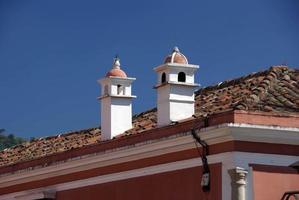 telhado em antigua, guatemala