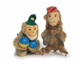 brinquedos de macaco de corda vintage foto