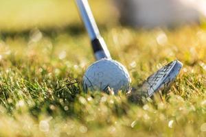 close-up de bola de golfe. foto