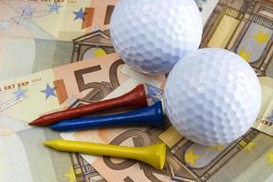 golfe e dinheiro foto