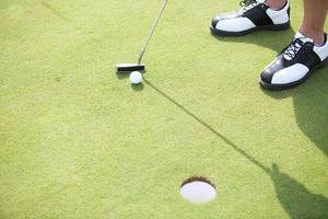 no campo de golfe foto