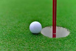 golfe no buraco foto