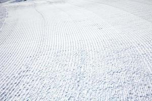 pista de esqui de perto