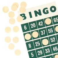 cartão verde bingo isolado foto