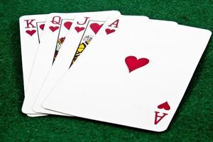 jogando cartas foto