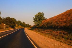estrada do país foto