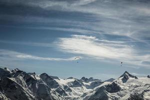 região de esqui de kitzsteinhorn na áustria