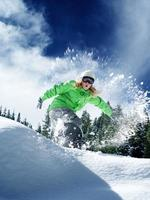 passeio no tempo de neve foto