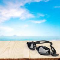 óculos de natação, natação, isolado foto