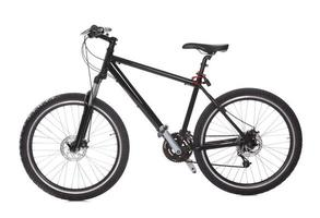 bicicleta de montanha preta foto