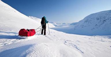 esquiar no kungsleden foto